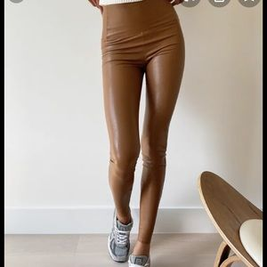 7 for all mankind leather leggings